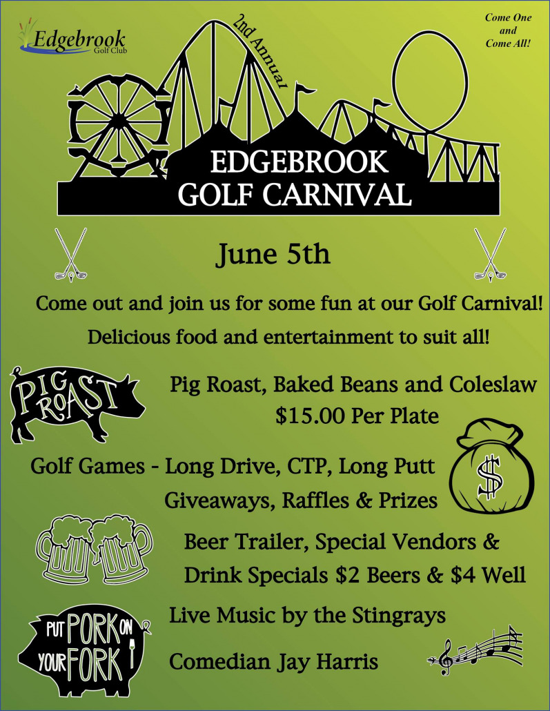 2nd Annual Golf Carnival Flyer